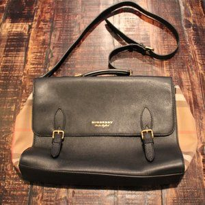 Burberry Leather Briefcase/Messenger Bag